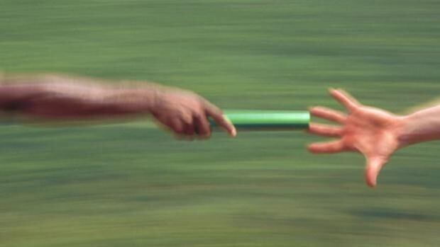 Aktuální pozice štafetového kolíku